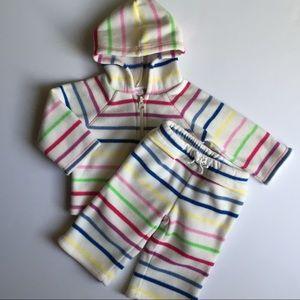 Fleece sweatsuit size 6 12 Mo Old Navy Fleece EUC
